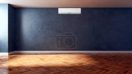 Modernes Interieur mit Klimaanlage 3D-Darstellung