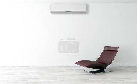 Photo pour Intérieur moderne avec climatisation Illustration de rendu 3D - image libre de droit