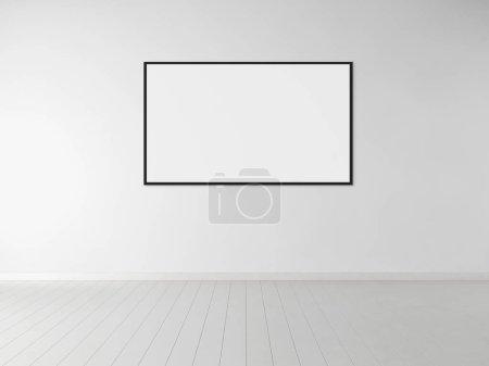 Photo pour Moderne lumineux intérieur appartement avec maquette cadre affiche illustration rendu 3D - image libre de droit