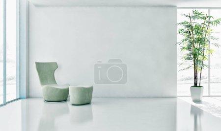 Photo pour Grand luxe moderne intérieurs lumineux appartement salon illustration 3d rendu image de synthèse - image libre de droit