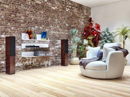 Foto de Gran lujo moderno interiores luminosos sala de ilustración 3D representación de la imagen generada por ordenador no fotos y no propiedad privada - Imagen libre de derechos