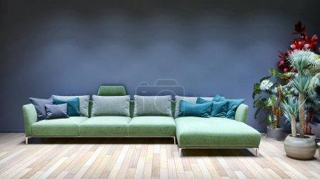 Photo pour Grand luxe moderne lumineux intérieur chambre illustration rendu 3D image générée par ordinateur pas de photos et pas de propriété privée - image libre de droit