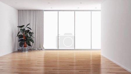 Photo pour Grand luxe moderne lumineux intérieur chambre illustration rendu 3D - image libre de droit