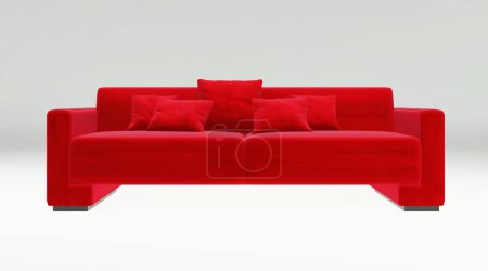 Photo for Sofa isolated on white background 3d rendering illustration - Royalty Free Image