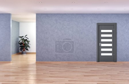 Photo for Large luxury modern bright interiors room with door illustration 3D rendering - Royalty Free Image