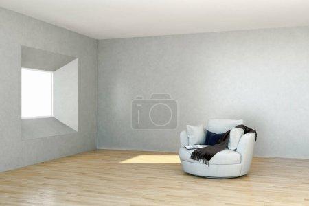 Photo pour Grand luxe moderne lumineux intérieurs Salon maquette illustration rendu 3D ordinateur image générée numériquement - image libre de droit