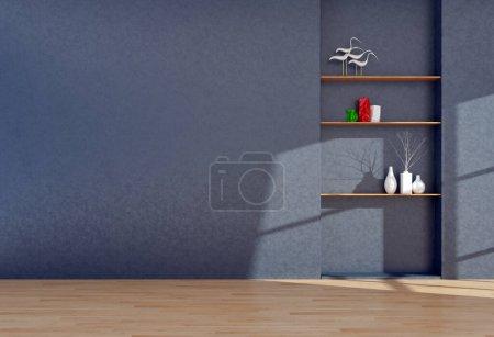 Große Luxus moderne helle Innenräume Wohnzimmer Mockup Illustration 3D Rendering Computer digital generiertes Bild