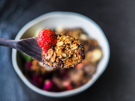 Photo for Healthy breakfast with granola and berries - Royalty Free Image