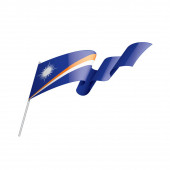 Marshall Islands flag vector illustration on a white background