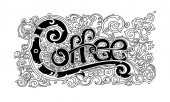 Vintage coffee logo stylish graphic lettering for coffee shops cafes packaging and labels