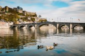 Historic town of Namur with Old Bridge and river Meuse, Wallonia, Belgium