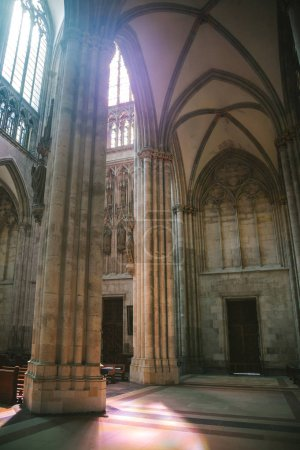 Photo for COLOGNE, GERMANY - 28 JUNE 2018: interior of old church with sunlight - Royalty Free Image