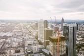 """Постер, картина, фотообои """"птичьего полета город небоскребов и зданий в Франкфурт, Германия"""""""
