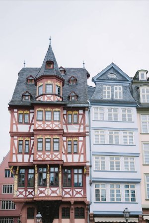 beautiful colorful buildings in Frankfurt, Germany