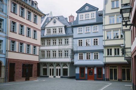 Beautiful buildings at city street in Frankfurt, G...