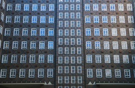 Photo pour Image plein cadre du bâtiment à Hambourg, Allemagne - image libre de droit