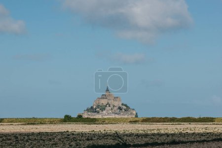 Photo for Beautiful view of famous mont saint michel, normandy, france - Royalty Free Image