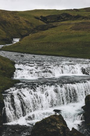 Photo for Skoga river flowing through highlands in Iceland - Royalty Free Image