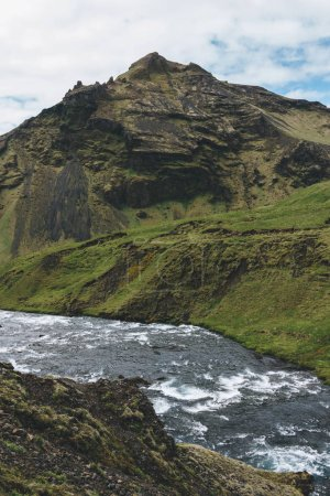 Photo for Scenic view of beautiful Skoga river flowing through highlands in Iceland - Royalty Free Image