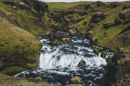Photo for Scenic view of beautiful Skoga river canyon in Iceland - Royalty Free Image