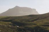 """Постер, картина, фотообои """"живописный вид ландшафта с красивой горы в Исландии"""""""