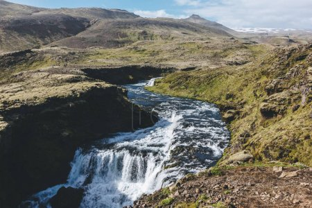 Photo for Aerial view of beautiful Skoga river canyon in Iceland - Royalty Free Image