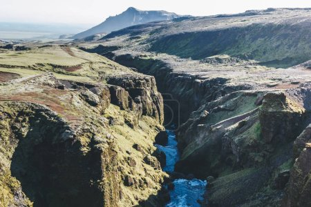 Photo for Aerial view of beautifu Skoga river canyon in Iceland - Royalty Free Image