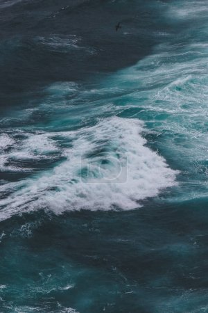 Photo for Aerial view of wavy blue ocean for background - Royalty Free Image