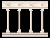 set of stone columns in different styles isolated