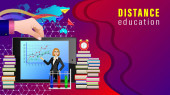 Distance Education Mobile Learning