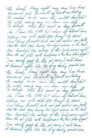 Photo pour Texte indéfini avec des mots anglais. Lettre manuscrite. L'écriture. Calligraphie. Manuscrit. Scénario. Police. Texture abstraite fond - image libre de droit
