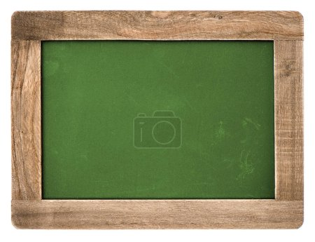 Photo for Vintage chalkboard with wooden frame isolated on white background - Royalty Free Image