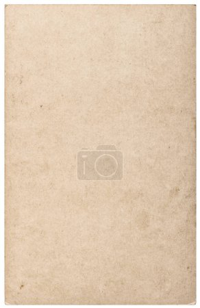 Photo for Used paper card texture isolated on white background - Royalty Free Image