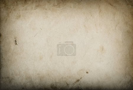 Photo for Used paper sheet. Grungy cardboard texture with vignette - Royalty Free Image