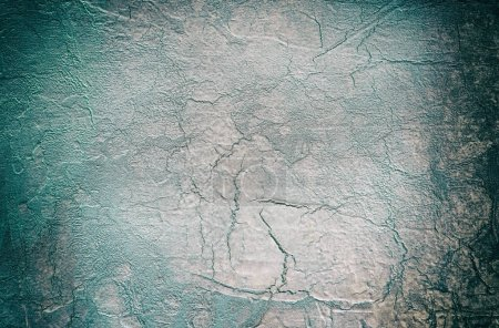 Photo for Cement texture. Concrete stone background with cracks. Dark toned picture - Royalty Free Image