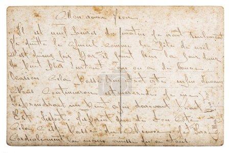 Photo pour Vintage courrier de carte postale manuscrite avec texte illisible indéfini. Texture du papier utilisé - image libre de droit