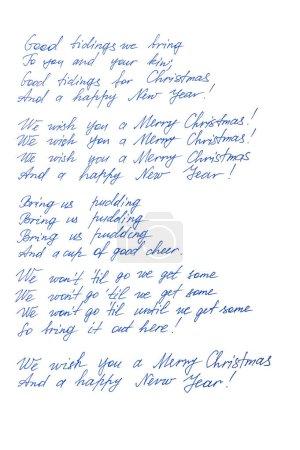 Photo pour Nous vous souhaitons un joyeux Noël et une bonne année - image libre de droit
