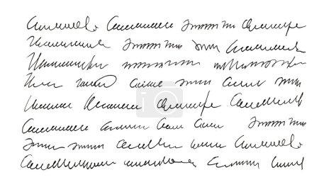 Photo pour Texte non défini écrit à la main. L'écriture. Calligraphie. Signature. Une lettre. Texture abstraite fond - image libre de droit