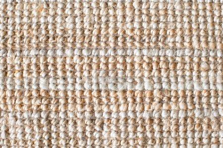 Tissu de jute ou tapis de jute épais pour le fond. Gros plan sur la texture naturelle du sac. Espace de copie pour le texte .