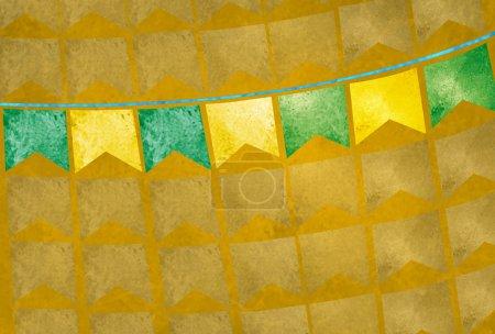 Decorative pennons of June festival, traditional Brazilian celebration