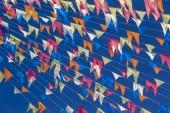 Decorative pennons of June festival, or Festas Juninas, traditional Brazilian celebration