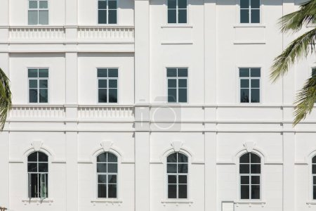 Photo for Facade of beautiful modern white building - Royalty Free Image