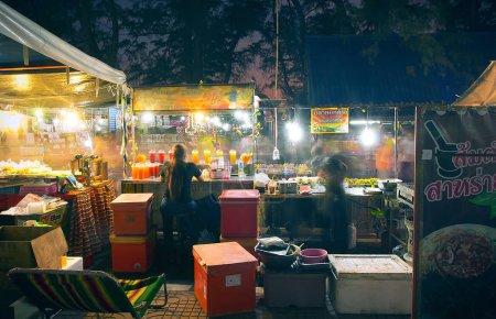 Photo pour Thaïlande - 07 février 2016 : Thaïlande, marché asiatique en Thaïlande - image libre de droit