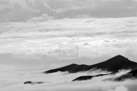 Photo for View of beautiful mountains with clouds - Royalty Free Image