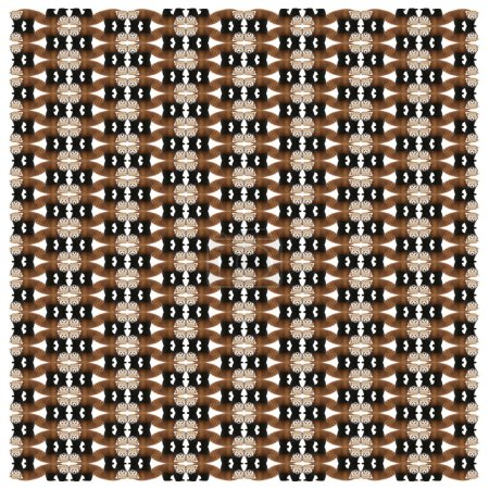 Photo for Young Red panda or Shining cat, Ailurus fulgens, in repeated pattern, in front of white background - Royalty Free Image