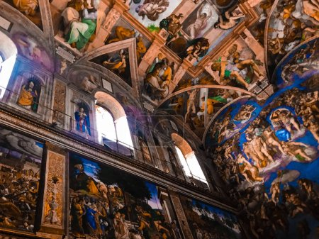 Italy, Vatican, Sistine Chapel, november 27, 2017, Ceiling of the Sistine chapel in the Vatican Museum