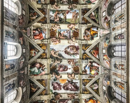 Photo for Italy, Vatican, Sistine Chapel, november 27, 2017, Ceiling of the Sistine chapel in the Vatican Museum - Royalty Free Image