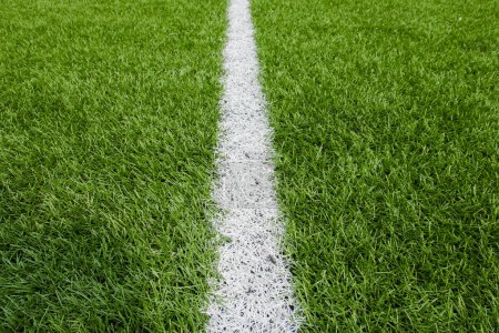 Green Football background with a vertical line.