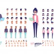 Front, side, back, 3/4 view animated characters. Y...