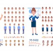 Front, side, back, 3/4 view animated characters. B...